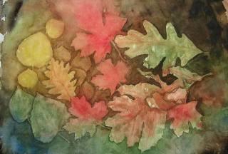 _домик листья