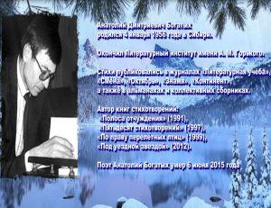 Богатых Анатолий поэт